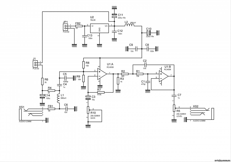 Схема усилитель микрофона операционный усилитель