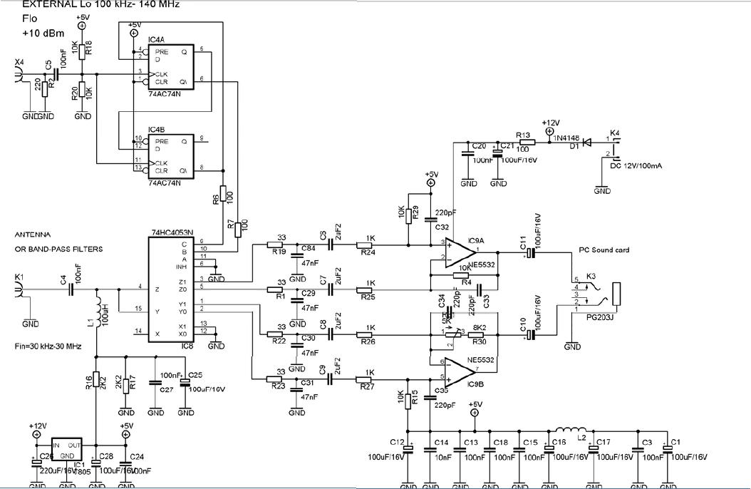Po mnoha kladnu00fdch ohu016fasech na SDR radia jsem se rozhodl postavit, velice jednoduchu00e9 SDR, radio jsem sestavil podle.